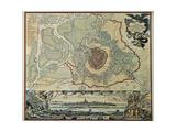 Austria, Vienna, Plan, 1720 Giclee Print