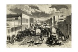 Denver Street, Colorado, 1876, United States Giclee Print