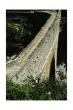 Pondel Bridge, Roman Aqueduct, Aymavilles, Valle D' Aosta, Italy BC Giclee Print