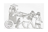 An Assyrian King in His Chariot of State, from the Imperial Bible Dictionary, Published 1889 Giclee Print