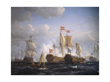 Battle of Koge Bay, July 1, 1677, Denmark Giclee Print