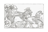 Assyrian War Chariot, from the Imperial Bible Dictionary Giclee Print