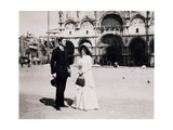 Italy, Venice, Alban Berg and His Wife Helene Berg,1908 Giclee Print