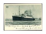 Hapag, S.S. Hamburg, New York, 1936, Dampfschiff Giclee Print