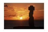 Chile, Easter Island, Rapa-Nui National Park Giclee Print