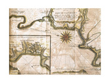 Chile. Valparaiso. Map in 1713 after an Engraving of 1717 Giclee Print