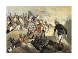 Massacre at British Mission, January 1897, Colonial Wars, Benin Giclée-Druck