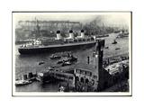 HSDG, Schnelldampfschiff Cap Arcona Am Hafen Giclee Print