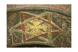 Ethiopia, Lalibela, Rock-Hewn Churches, Church of Bet Maryam, Detail of Frescoed Vault Giclée-Druck