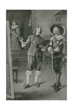 Charles Stuart in the Home of Van Dyck Giclee Print by Walter Stanley Paget