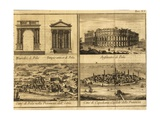 View of Pula, Arch of Sergi, Temple of Rome and Augustus, Amphitheatre and View of Koper, 1730 Giclee Print