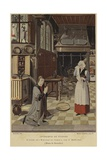Kitchen Interior Giclee Print by Jan Mostaert