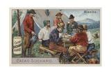 Drinking Cocoa at Camp, Alaska Giclee Print