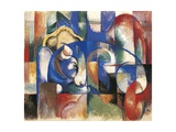 Lying Bulls, 1923 Giclee Print by Franz Marc