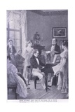 Schubert Plays a Song for a Friend Giclee Print by Carl Rohling