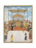 Durbar of Akbar Ii, C.1811-15 Giclee Print by Ghulam Murtaza Khan
