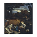 Pastoral Scene, 1560 Giclee Print by Jacopo Bassano