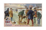 Cibils Card Featuring Curling Giclee Print