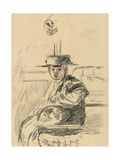 Seated Woman with a Straw Boater Giclee Print by Walter Richard Sickert