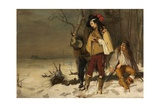 Distressed Cavaliers Turned Highwaymen, 1861 Giclee Print by John Pettie