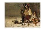 Distressed Cavaliers Turned Highwaymen, 1861 Giclee Print by John Pettie