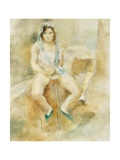 Young Woman Seated Gicléetryck av Jules Pascin