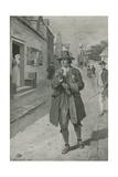 Benjamin Frankin Arriving in Philadelphia Giclee Print by Charles Mills Sheldon