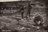 Army Chaplain Tending British Graves, World War I Photographic Print