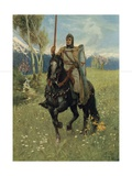 Thus it Was That Parsifal Began His Pilgrimage Giclee Print by Ferdinand Lecke