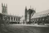 Magdalen College Cloister and Tower, Oxford Photographic Print by  English Photographer