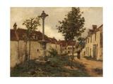 Rue, Mont-Saint-Père, France Giclee Print by Léon Augustin L'hermitte
