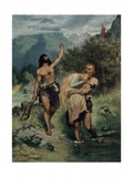 The Giants Bore Freia Away Giclee Print by Ferdinand Lecke