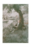 William Blake Sits in the Sun Giclee Print by Charles Mills Sheldon