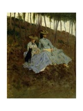 Ladies in Countryside Giclee Print by Tito Conti