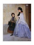 The Milliner Giclee Print by Odoardo Borrani