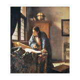 Geographer, 1669 Giclee Print by Jan Vermeer