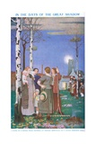 In the Days of the Great Shadow Gicleetryck av Frederick Cayley Robinson