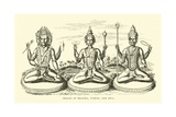 Images of Brahma, Vishnu, and Siva Giclee Print