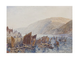 'Clovelly Harbour Giclee Print by Alfred William Hunt