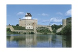Estonia, Narva, Hermann Castle and Narva River Giclee Print