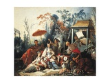 France, Chinoiseries, a Garden Giclee Print