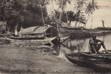 Ceylon Boats Photographic Print by  English Photographer