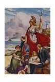 The Proud Bulwarks of Britannia Giclee Print