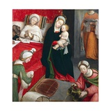 Birth of St John Baptist Giclee Print by Defendente Ferrari