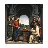 The Vision of St Bernard, C.1490/94 Giclee Print by Pietro Perugino
