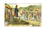 Emperor Menelik II of Ethiopia Reviewing Troops Giclee Print