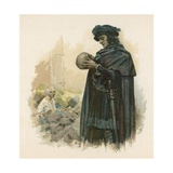 Hamlet with the Skull of Yorick Giclee Print by Walter Stanley Paget