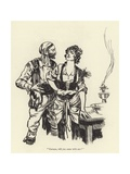 """Carmen, Will You Come with Me"" Giclee Print by René Bull"