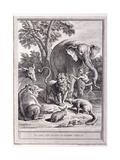 Le Lion S'En Allant En Guerre, C.1755-1759 Giclee Print by Jean-Baptiste Oudry