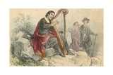 Ballad Singer Giclee Print by Theodor Hosemann